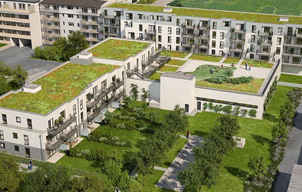 Mehrfamilienwohnhaus mit Vollsortimenter und TG in München